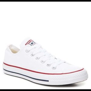 Worn Once Low Top White Converse